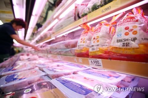 닭고기 8천t 방출[연합뉴스 자료사진]