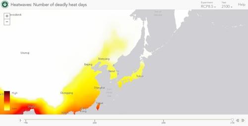 2100년 동아시아의 '살인폭염'