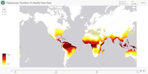 온실가스 배출추세 지속시 2100년 '살인폭염' 전망