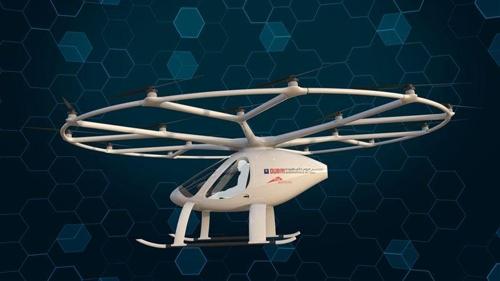 나는 2인용 자율운항 비행체 볼로콥터[RTA]