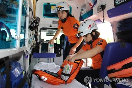 119 폭염 구급대 [연합뉴스 자료사진]