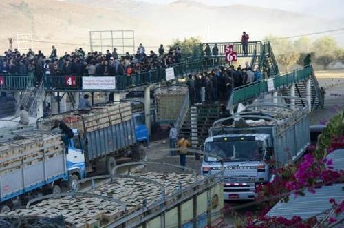 중국-미얀마 국경무역 거래소[사진출처 일레븐 미얀마 홈페이지]