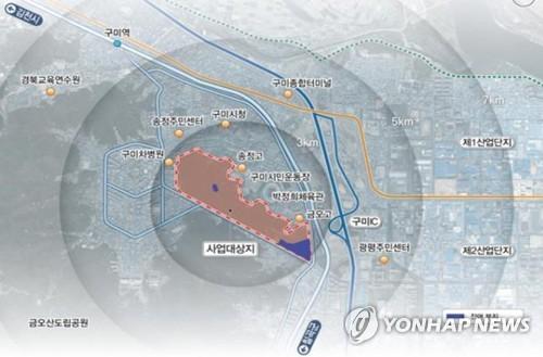 민간 중앙공원 위치도
