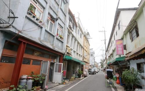 대전역 인근 쪽방촌 골목