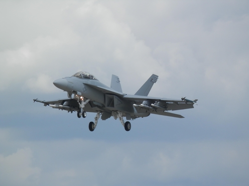 미 해군의 F/A-18E 'ㅠ퍼 호넷' 전투기[미 국방부 제공]