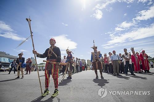 대만 과거정권 원주민 학대 탄압 사죄[EPA=연합뉴스]