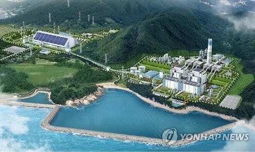 경남 고성하이화력발전소 조감도[연합뉴스 자료사진]