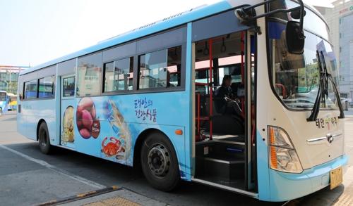 새 단장한 태안 농어촌버스 [태안군 제공=연합뉴스]