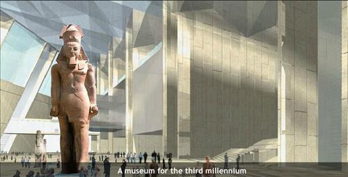 이집트 대박물관 내부 예상 그림 [이집트 대박물관 홈페이지 화면 캡처]