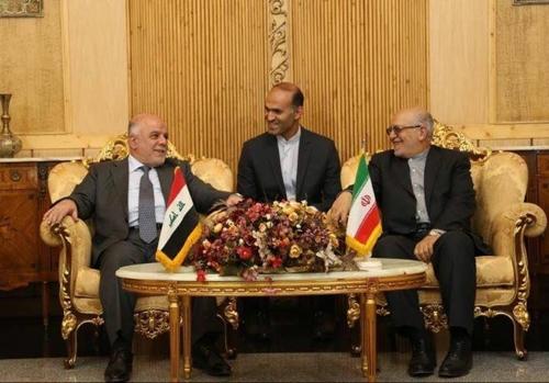 이란 테헤란을 방문한 알아바디 이라크 총리(좌)[이라크 총리실]