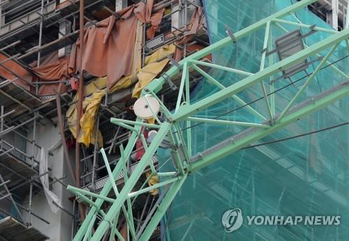 삼성중공업 크레인 사고 현장 [연합뉴스 자료사진]