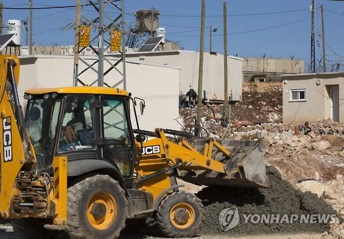 요르단강 서안의 이스라엘 정착촌 건설 현장[EPA=연합뉴스 자료사진]