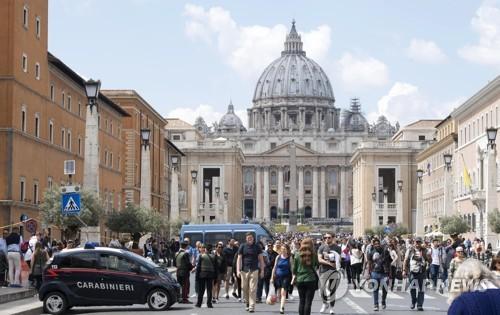 바티칸 성베드로 광장 주변 모습 [EPA=연합뉴스]