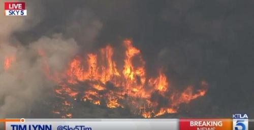 캘리포니아 주 스키휴양지 빅베어 산불