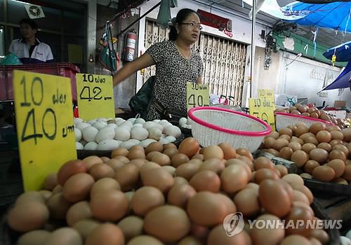 태국 계란 [EPA=연합뉴스 자료사진]