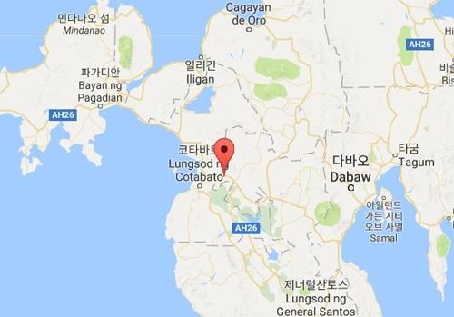 21일 필리핀 남부 이슬람 반군의 습격 마을[구글지도 캡처]