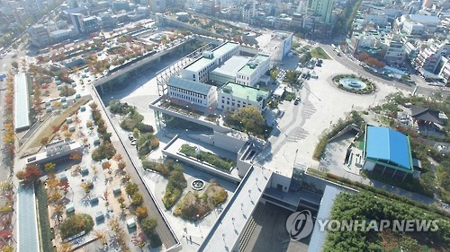 하늘에서 본 아시아문화전당의 모습. [연합뉴스 자료사진]