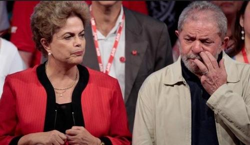 호세프 전 대통령(왼쪽)과 룰라 전 대통령[브라질 일간지 글로부]