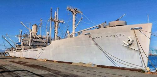미국 캘리포니아주 샌피드로항에 정박한 레인빅토리호[출처 위키피디아]