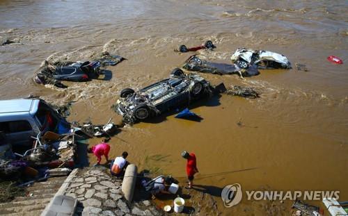 중국 지린성의 폭우 피해[AFP=연합뉴스]