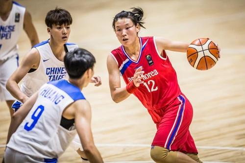 북한 로숙영, 아시아컵 여자농구 득점 1위 '활약'