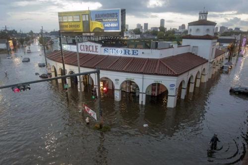 물에 잠긴 뉴올리언스 시가지
