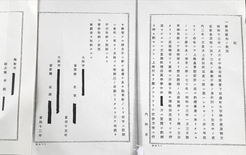 '시국 이용 부녀자 유괴 피의사건' 문서