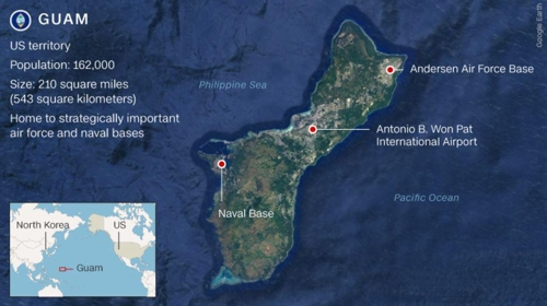 미국령 괌 위치