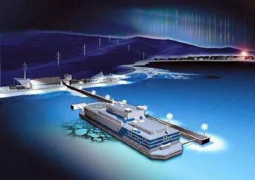 중국이 개발중인 부유식 해상 원전 상상도[중국 제일재경망 캡처]