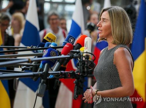 페데리카 모게리니 EU 외교·안보 고위 대표 [연합뉴스 자료사진]