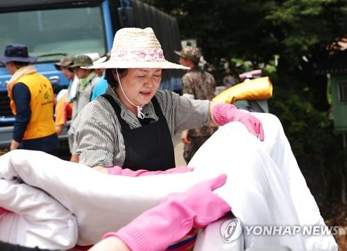 김정숙 여사 청주 수해현장 복구지원