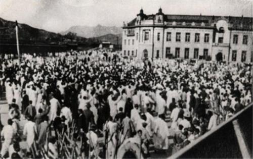 3·1 운동 당시 지금의 서울광장. 당시 경성일보 앞 [서울시 제공=연합뉴스]