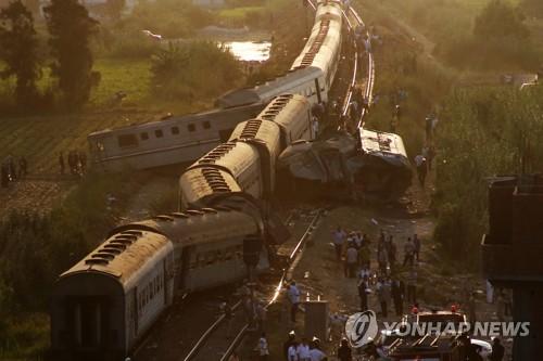 이집트 열차 추돌 사고 현장 [AP=연합뉴스 자료사진]