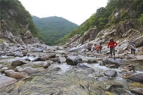 왕피천 계곡 트레킹은 울진 여행의 '백미'(성연재 기자)