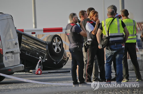 스페인 차량돌진 테러에 이용된 아우디 승용차
