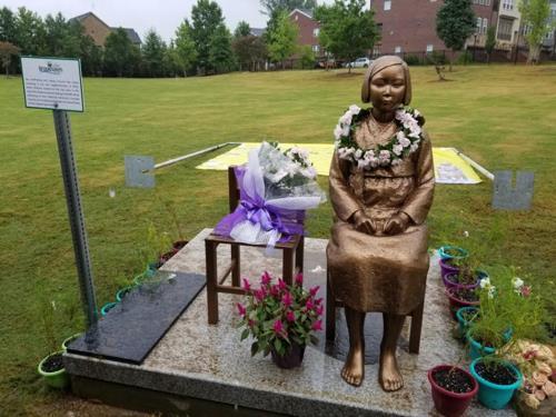 브룩헤이븐에 건립된 평화의 소녀상