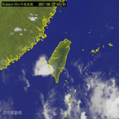대만 남부해역을 덮은 '하트 구름'[대만 중앙기상국 사이트 캡처]
