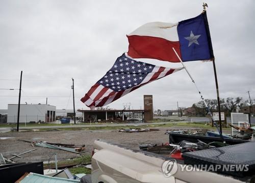 미국 텍사스 강타한 허리케인 '하비' 여파[EPA=연합뉴스 자료사진]