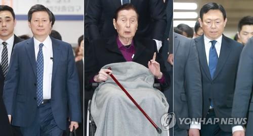 신동주, 신격호, 신동빈 삼부자(왼쪽부터) [연합뉴스 자료사진]
