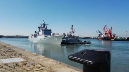 중러 '해상연합-2017' 훈련에 참석한 중국 군함. [인민망]