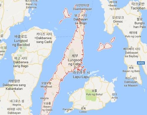필리핀 중부 세부[구글지도 캡처]