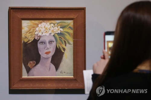 고(故) 천경자 화백의 '미인도' [연합뉴스 자료사진]
