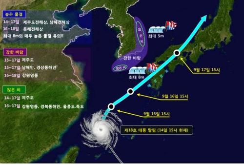 제18호 태풍 '탈림'의 진로와 영향