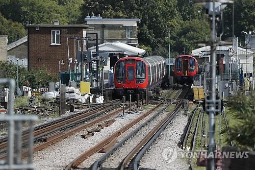 런던 지하철 폭발물 테러[AP=연합뉴스]