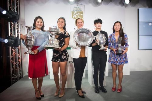 왼쪽부터 유소연, 대니엘 강, 소렌스탐, 박성현, 김인경. [에비앙 챔피언십 트위터]