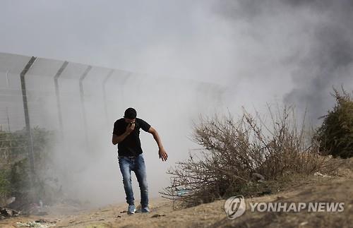 팔레스타인 영토 주변에 설치된 보안 펜스 [AP=연합뉴스 자료사진]