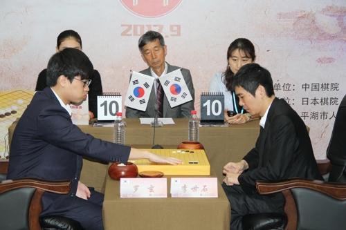 TV바둑아시아 결승 나현 8단(왼쪽)과 이세돌 9단[한국기원 제공=연합뉴스]