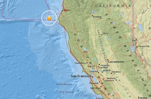 美 캘리포니아 북부 해상서 규모 5.8 지진
