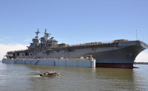 미 해군의 최신예 강습상륙함 트리폴리(LHA-7)[위키미디어 제공]