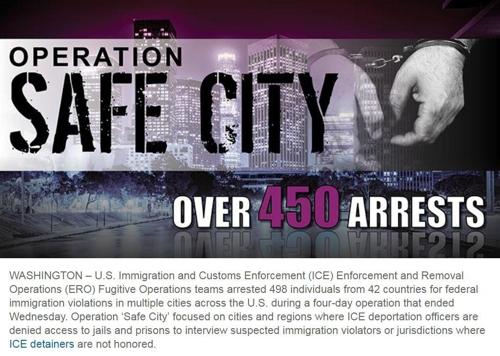 미 이민당국의 불체자 체포 작전